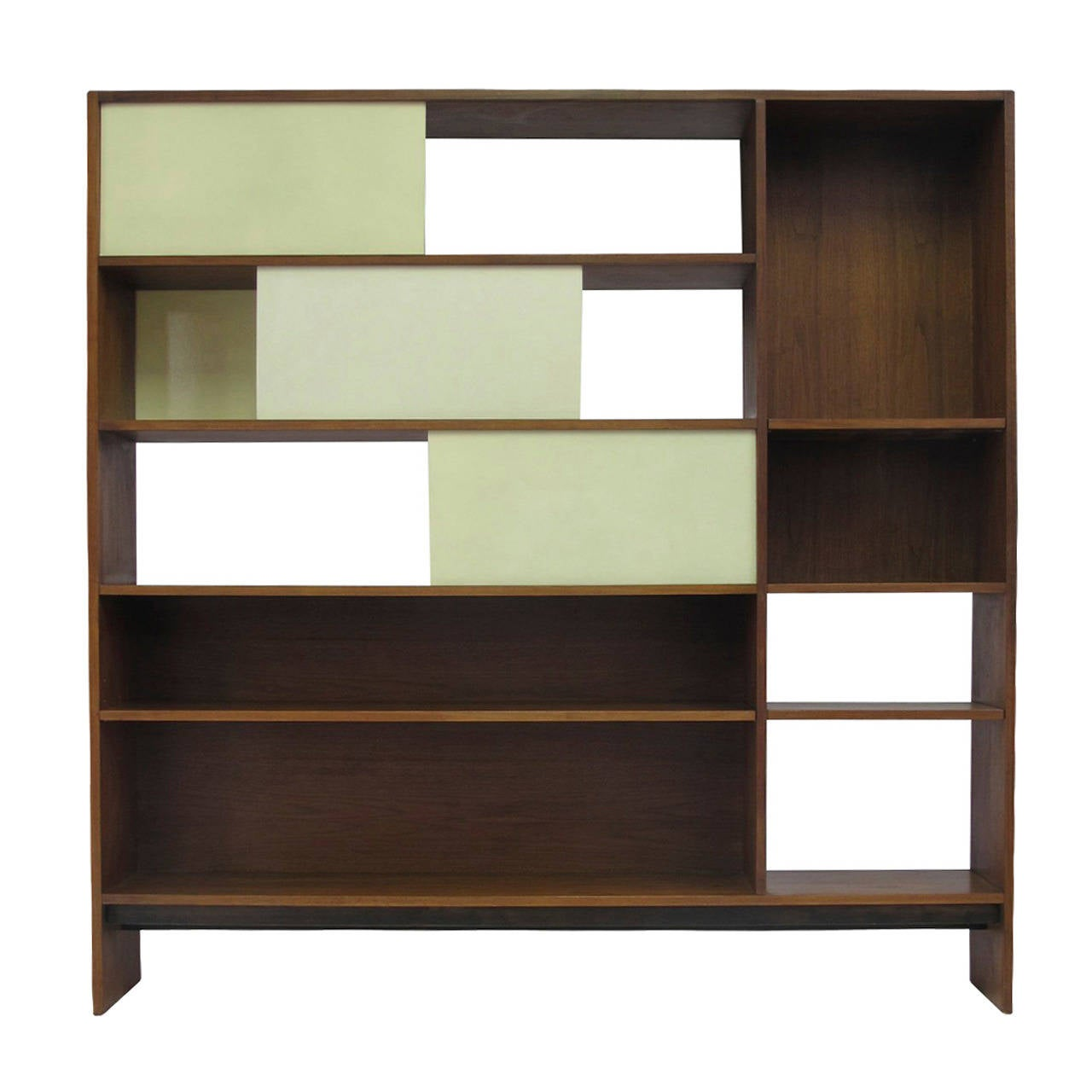 Walnut room divider bookcase at 1stdibs - Bookshelves as room divider ...