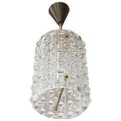 Orrefors Crystal Cylinder Pendant