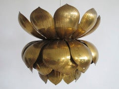 Brass Lotus Blossom Hanging Fixture image 2