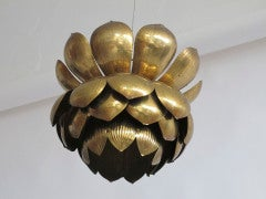 Brass Lotus Blossom Hanging Fixture image 4
