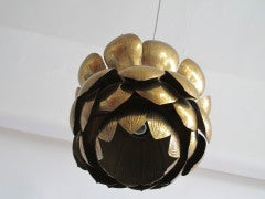Brass Lotus Blossom Hanging Fixture image 5