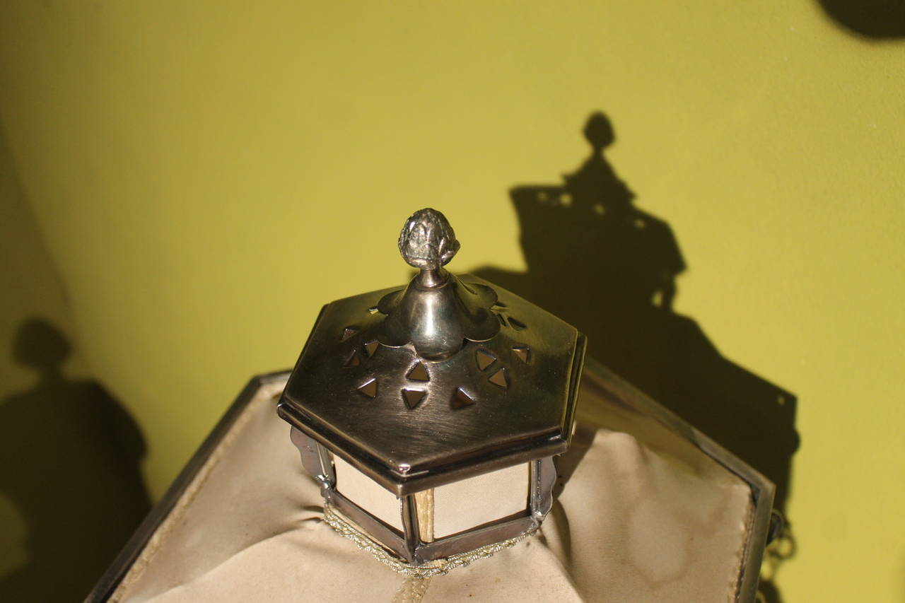 19th Century Italian Silvered Processional Lantern For Sale 1