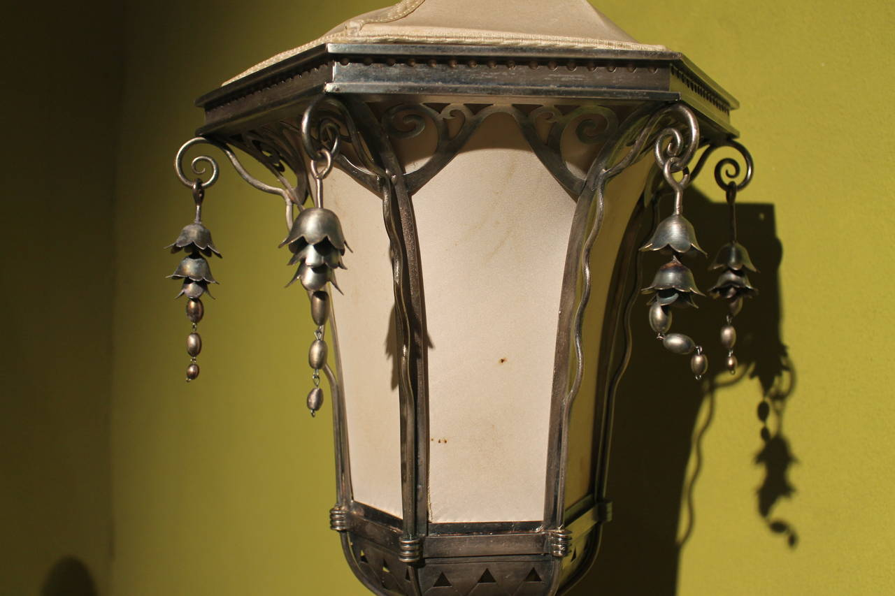 19th Century Italian Silvered Processional Lantern For Sale 2