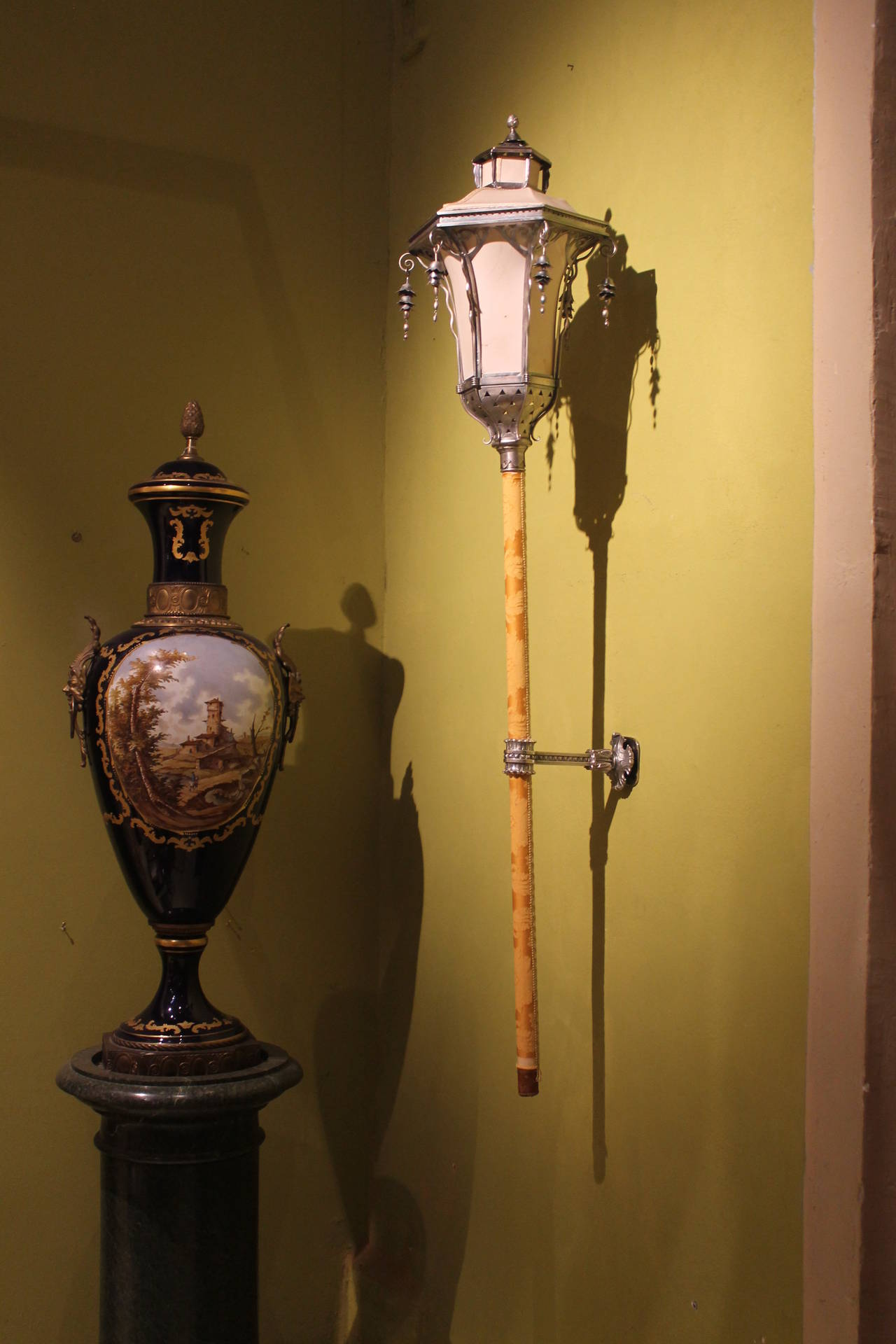 19th Century Italian Silvered Processional Lantern For Sale 3