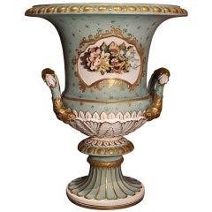 Antique Capodimonte Porcelain Medici Vase