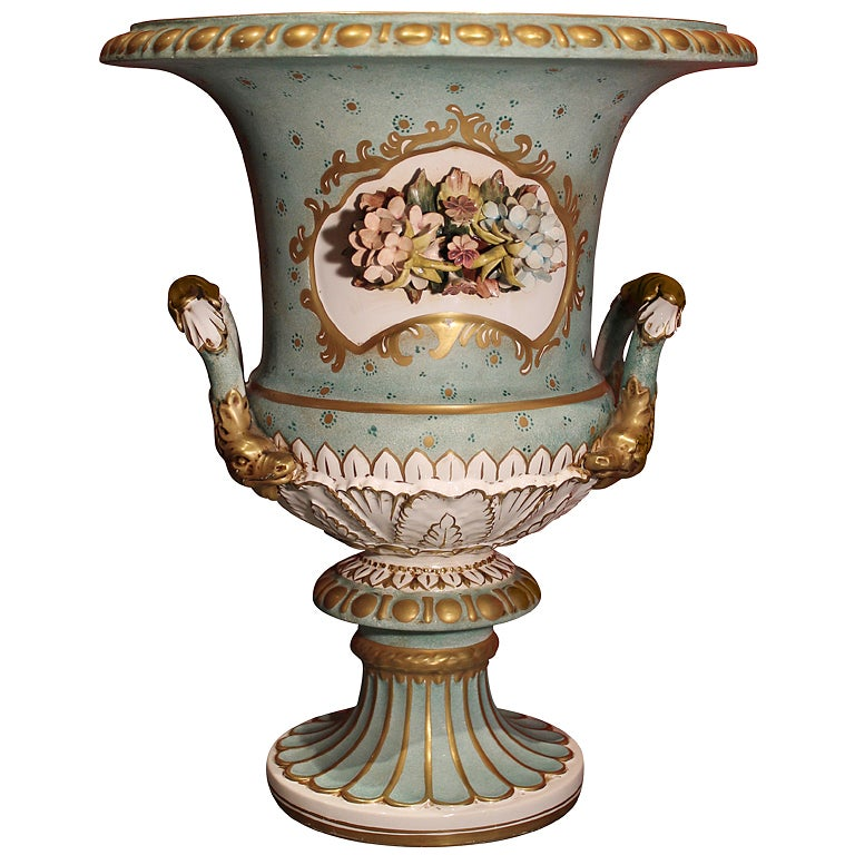 Antique Capodimonte Porcelain Medici Vase At 1stdibs