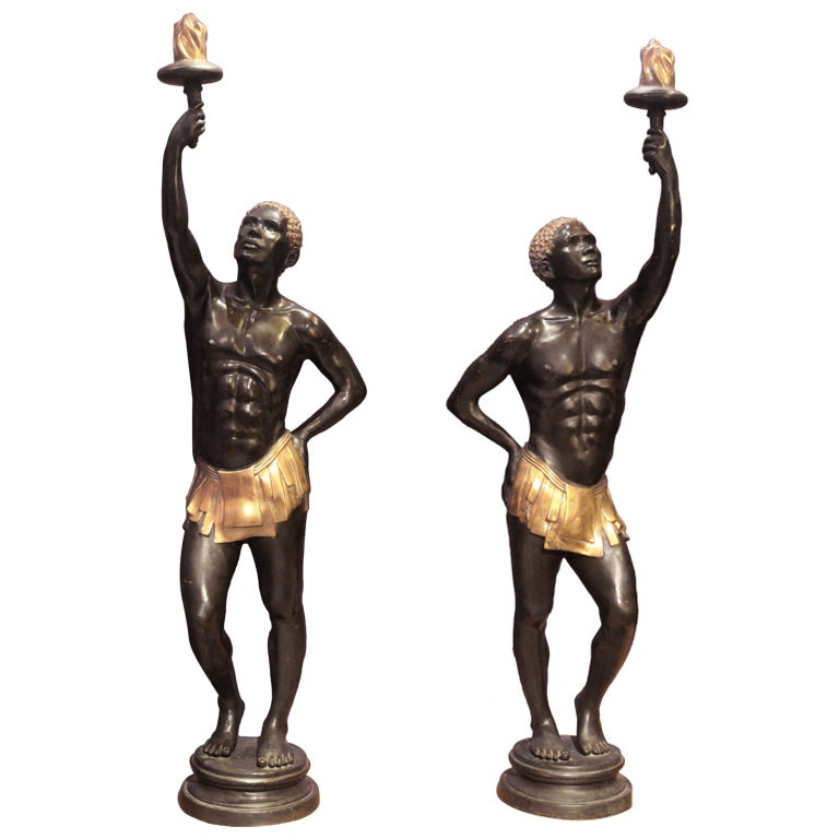 size deco bronze nubian blackamoor figures at 1stdibs