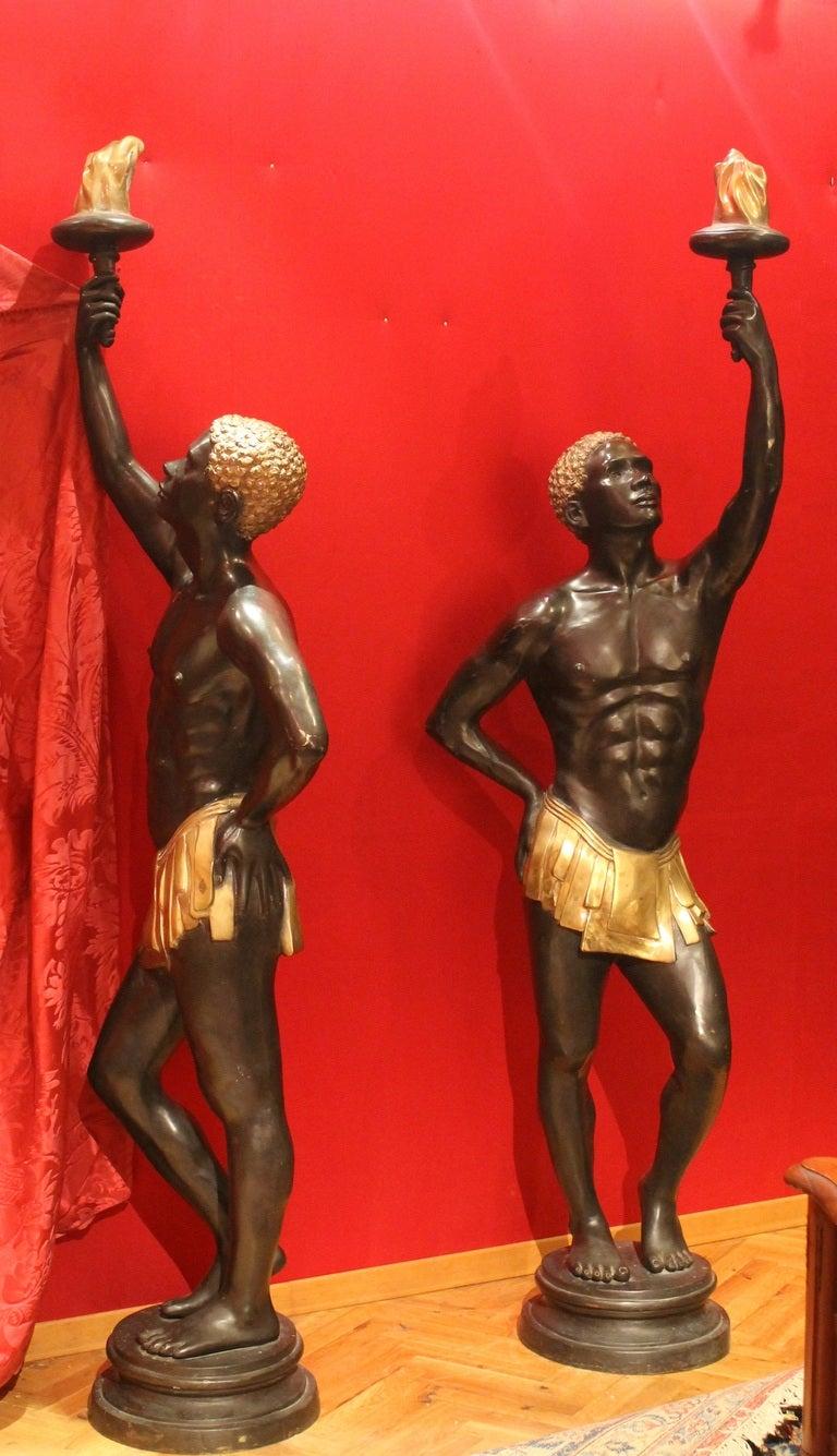 size deco bronze nubian blackamoor figures for sale at 1stdibs