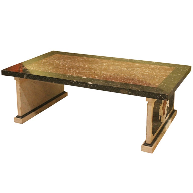 Marble Coffee Table For Sale Singapore: Italian Marble Coffee Or Cocktail Table For Sale At 1stdibs