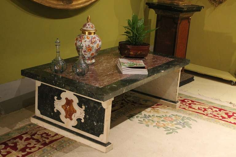 Italian Marble Coffee Or Cocktail Table For Sale At 1stdibs