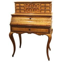 Burr Oak Drop- Front Writing Desk