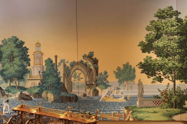 a huge zuber scenic wallpaper feat the french garden at