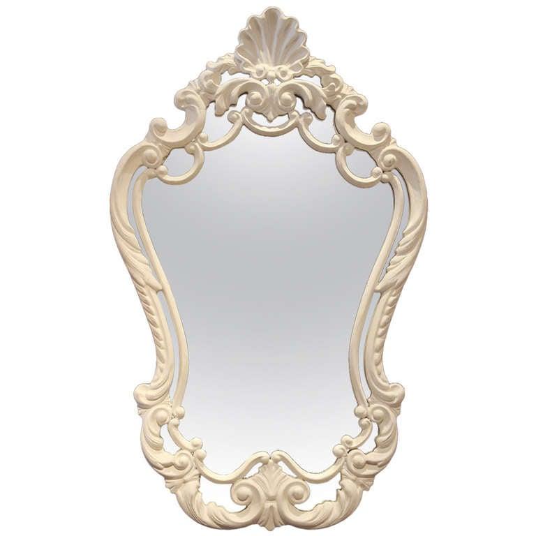 Rococo style framed mirror at 1stdibs for Baroque style wall mirror