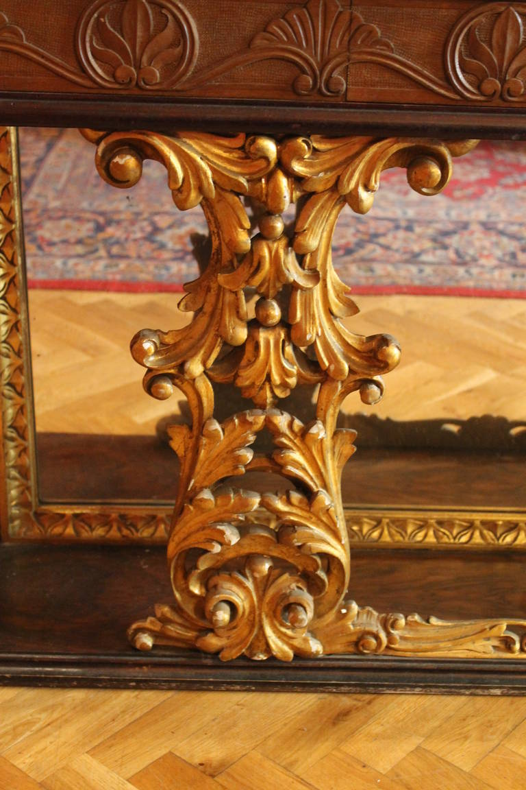 Italian Console Table with Mirror and Marble Top 3