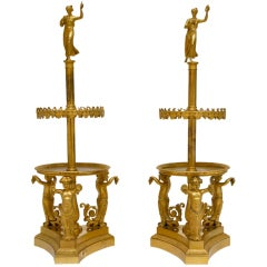 A Pair of Gilt-Bronze Stands/Centerpieces by Pierre-PhilippeThomire