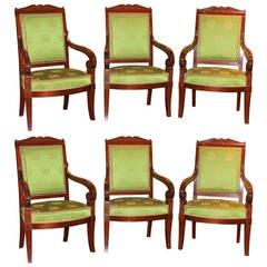 A Set of Six Jacob Armchairs