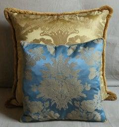 Vintage Italian Damask Silk Pillows