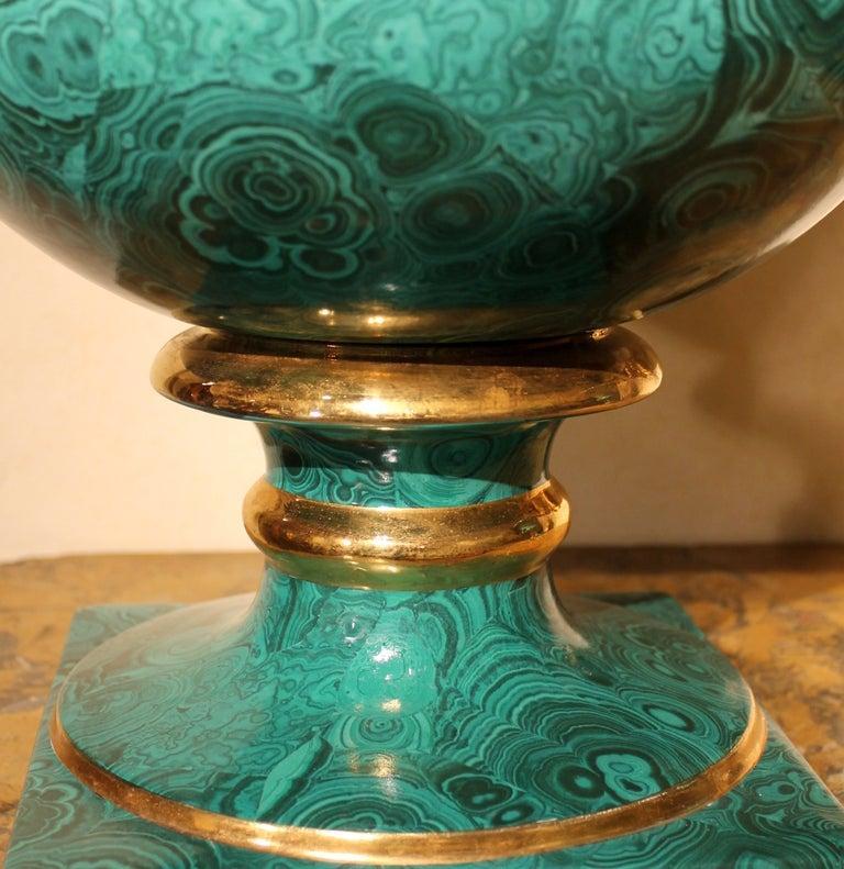 Faux Malachite Medici Vases At 1stdibs