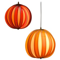 One of Two of 1970s Pendant Lamps