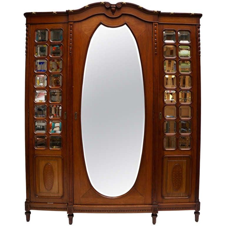 Louis XV Style Mahogany Armoire