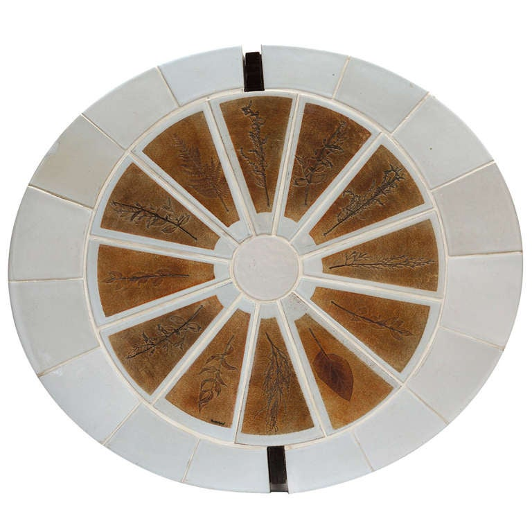 Roger Capron 1970s Tile Coffee Table From The Garrigue