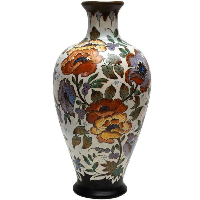 Tall Gouda Vase At 1stdibs
