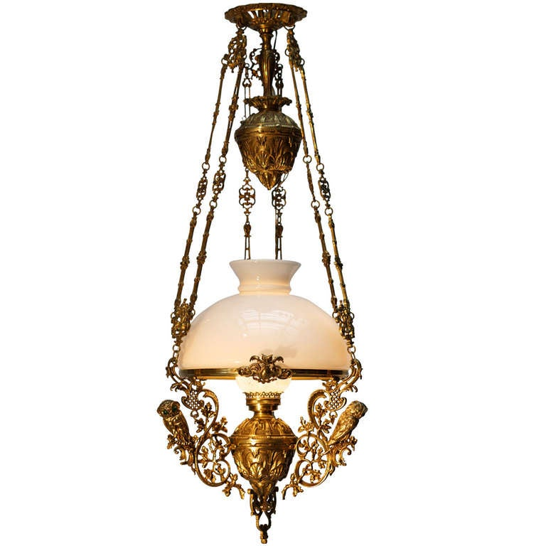 Hanging Oil Lamp, Electrified