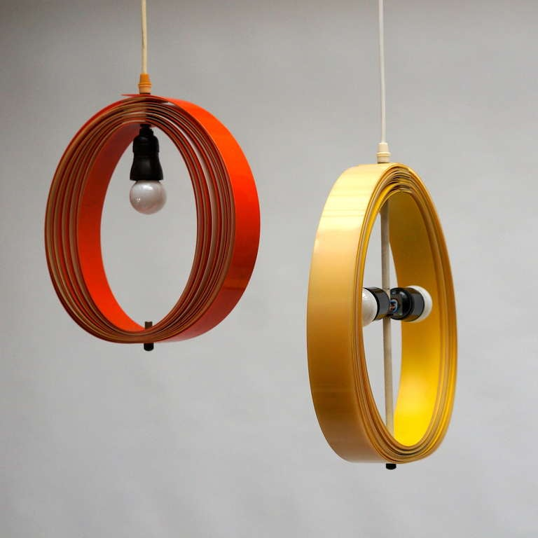 Pair of 1970s Pendant Lamps For Sale 1