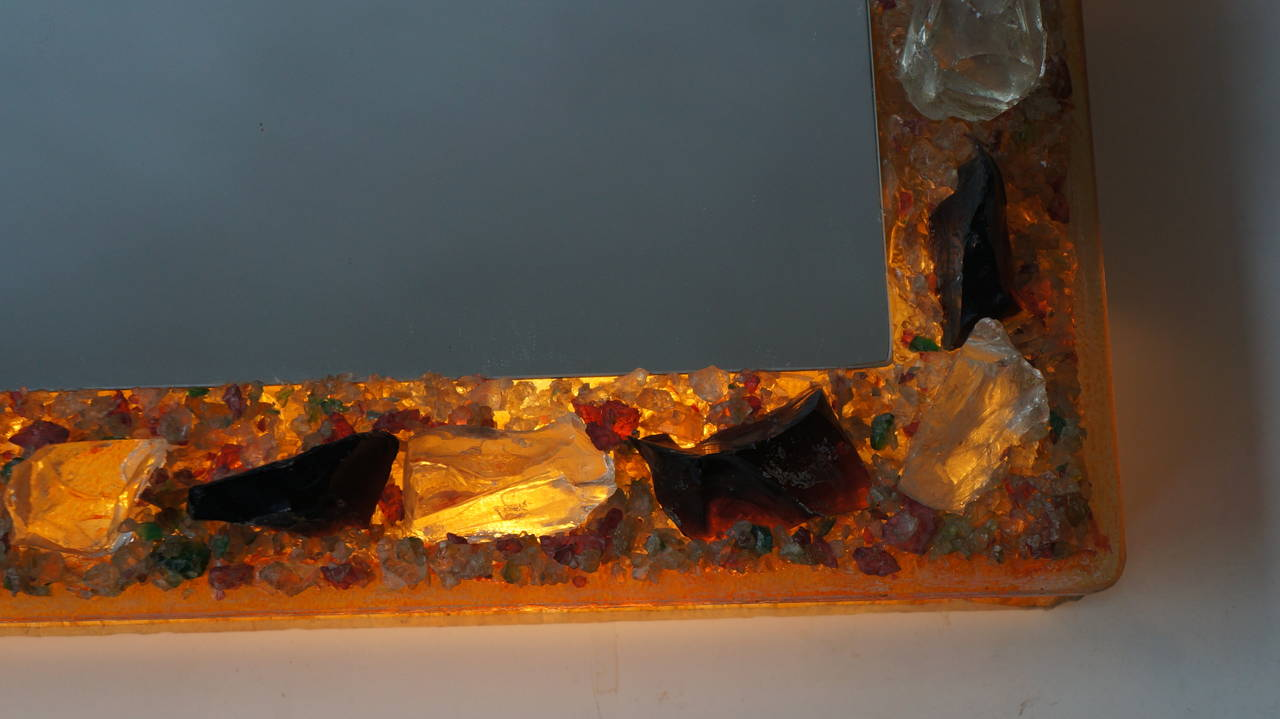 Metal RAAK Wall Light with Mirror 'Chartres' by Willem van Oyen Senior For Sale