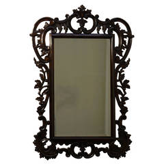 Large Carved Antique Wooden Mirror