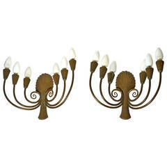 Pair of French Art Deco Sconces