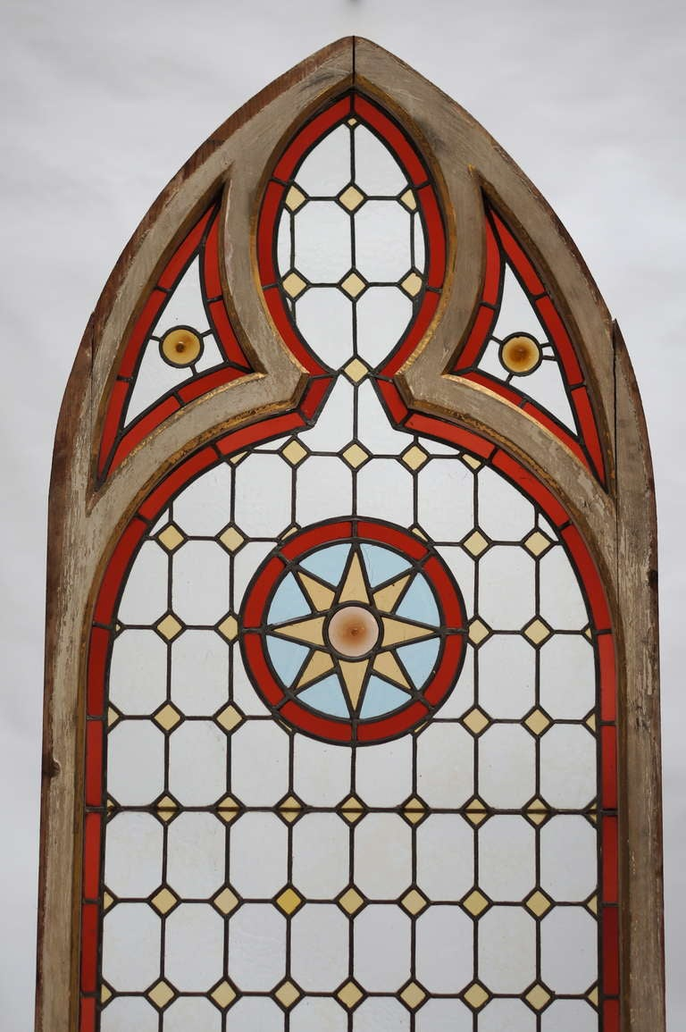 Neo Gothic Stained Glass Window For Sale At 1stdibs