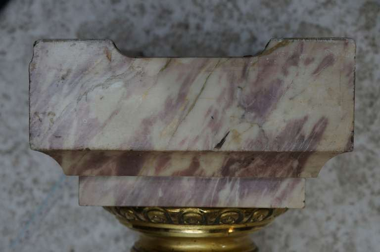 Italian Marble Column Pedestal with Corinthian Capital For Sale 2