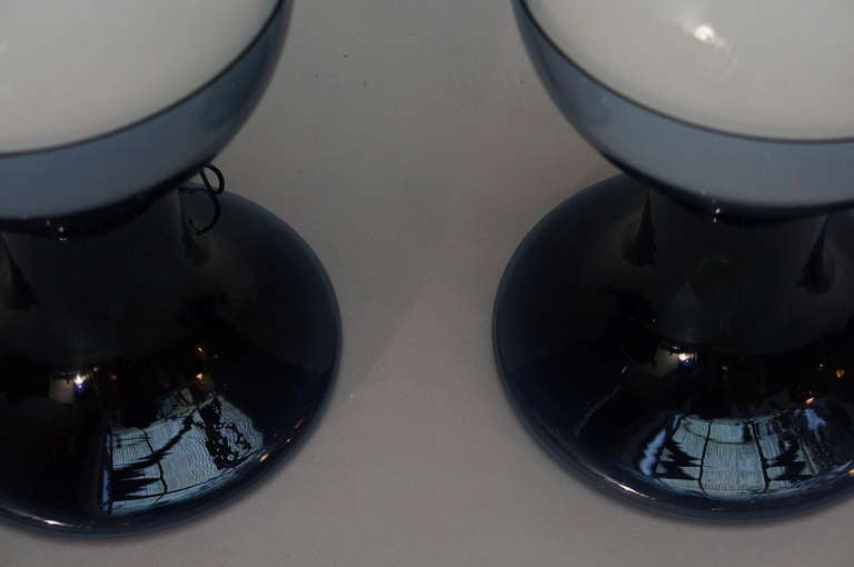 Murano Table Lamps by A.V. Mazzega In Excellent Condition For Sale In Antwerp, BE