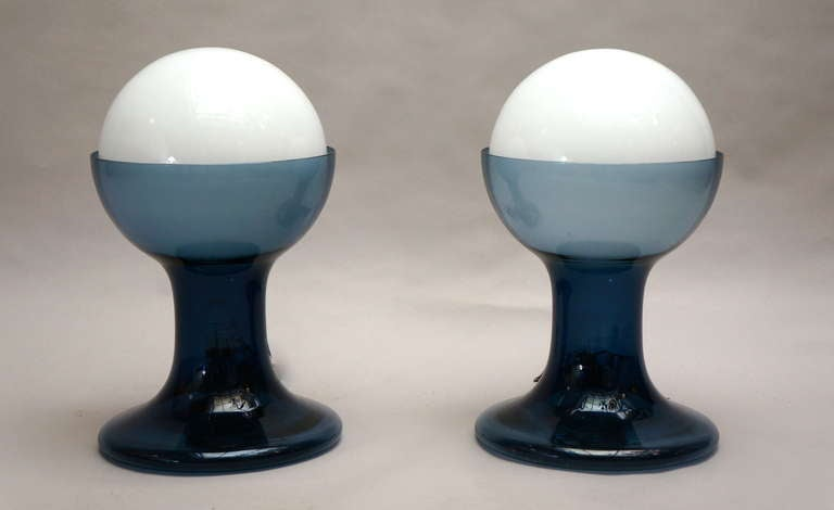 Mid-Century Modern Murano Table Lamps by A.V. Mazzega For Sale