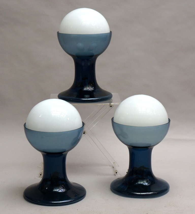 Italian Murano Table Lamps by A.V. Mazzega For Sale