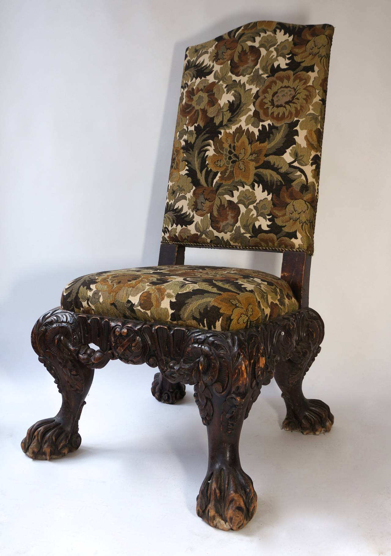 Italian Barok Style Chair, Second Half of the 19th Century In Good Condition For Sale In Antwerp, BE