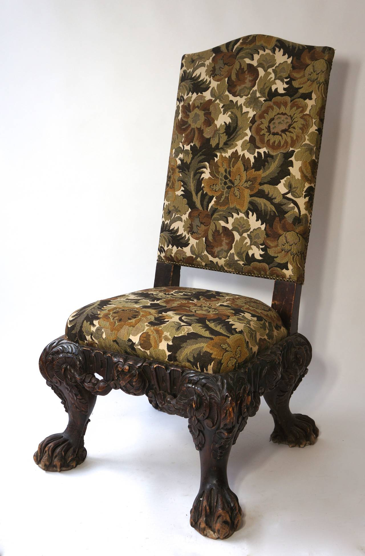 Italian Barok Style Chair, Second Half of the 19th Century For Sale 1