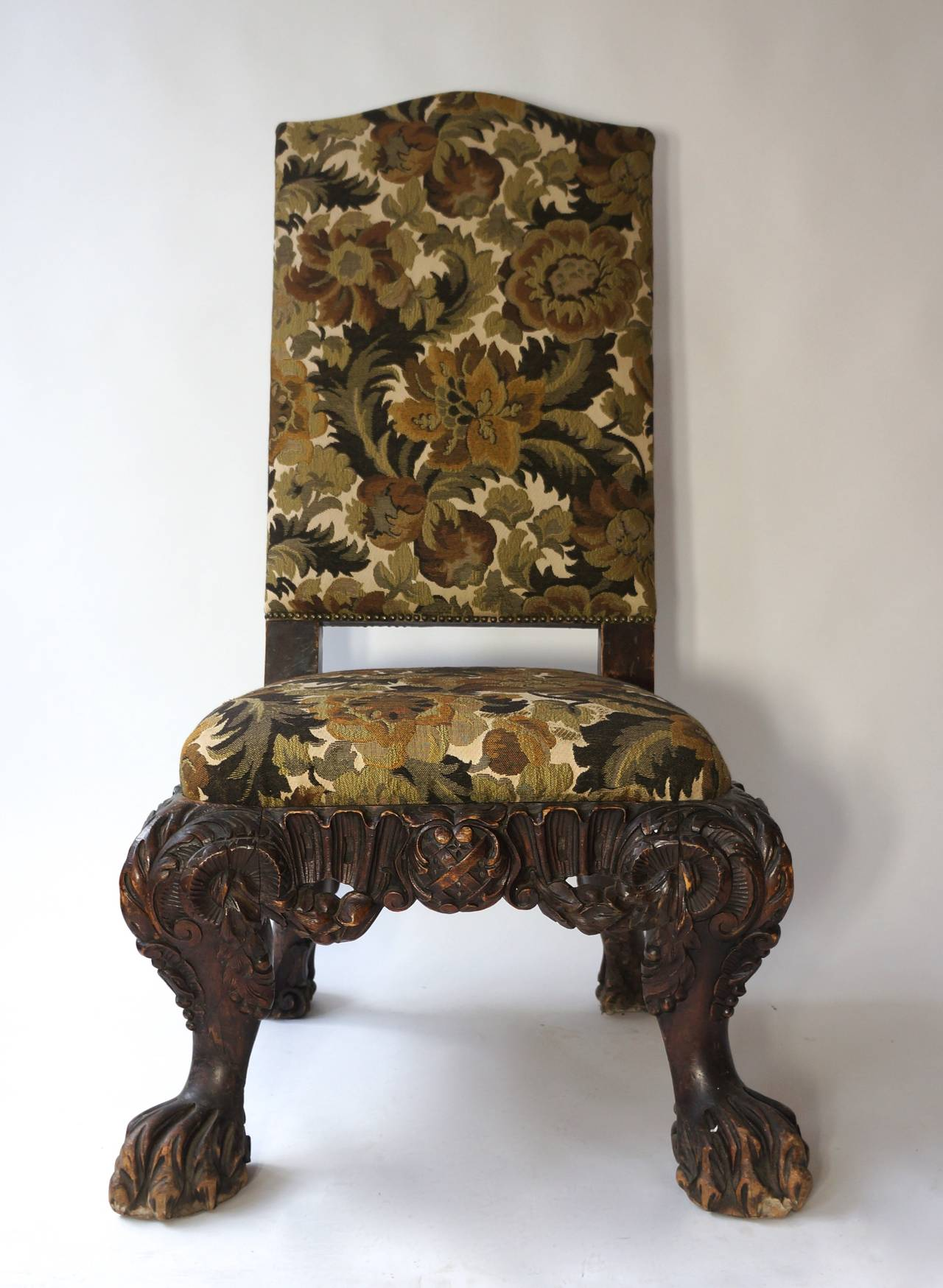 Baroque Italian Barok Style Chair, Second Half of the 19th Century For Sale