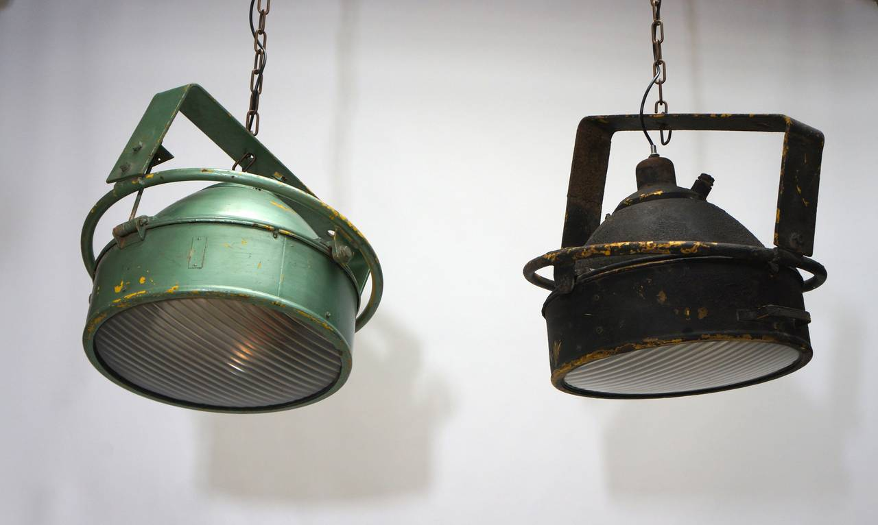 Two beautiful Industrial pendant lights.