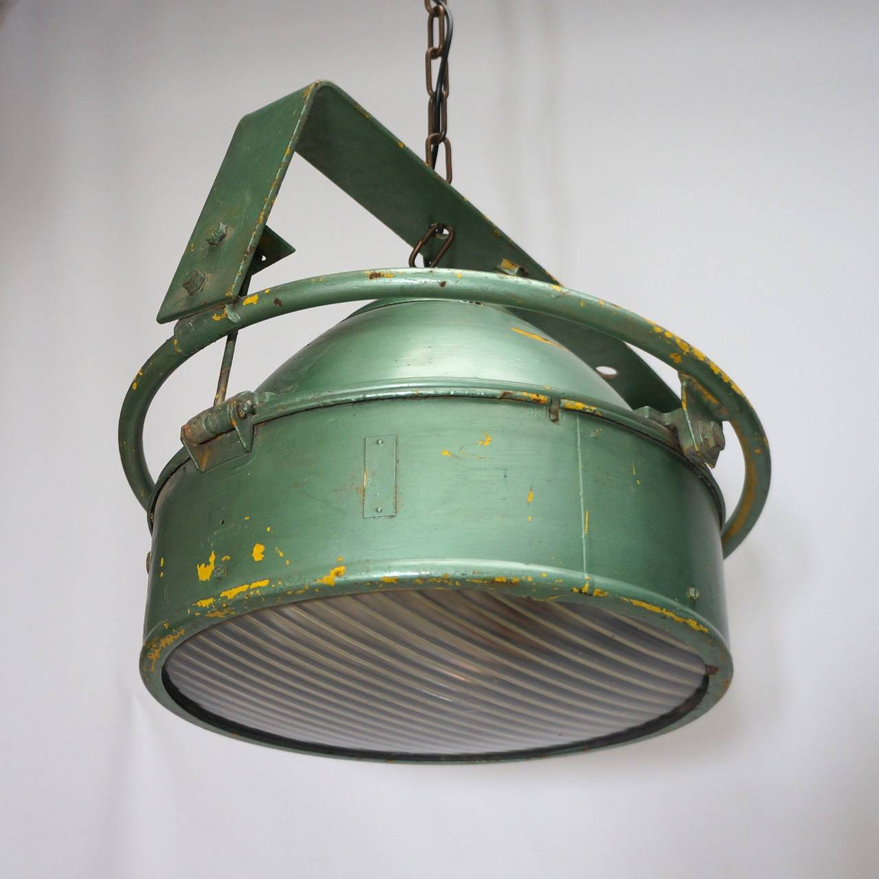 Pair of Industrial Pendant Lights For Sale 2