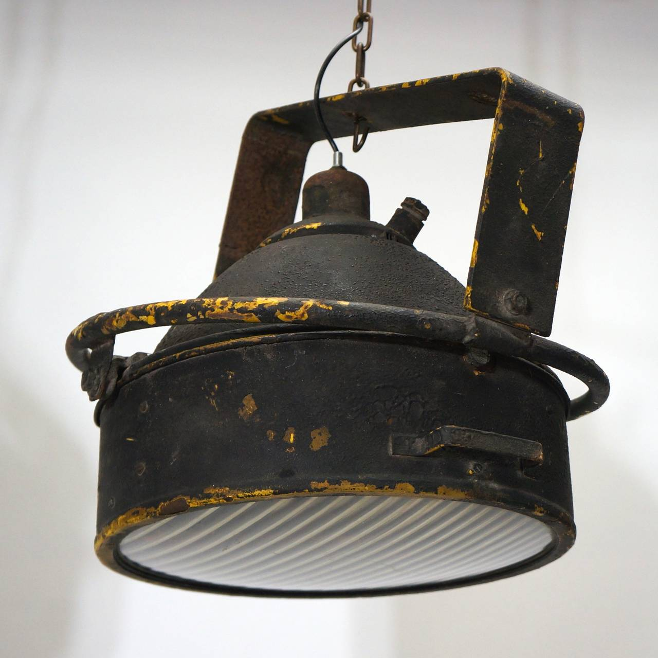 Pair of Industrial Pendant Lights For Sale 3