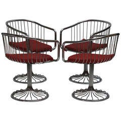Set of Two Dining or Lounge Chairs in the Style of Warren Platner
