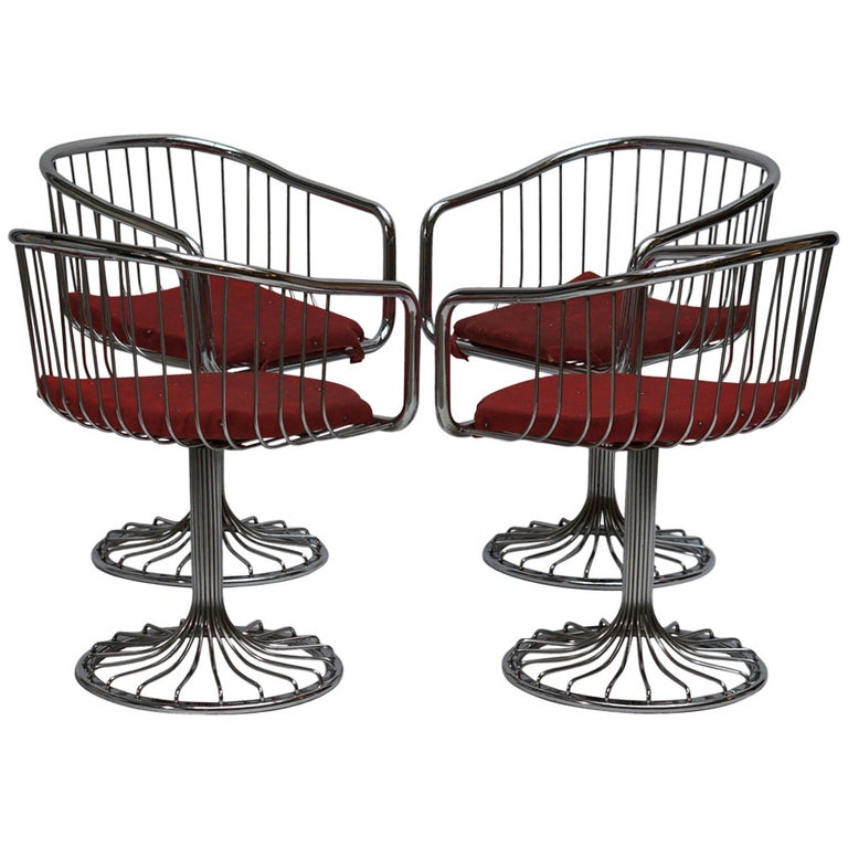 Set of Two Dining or Lounge Chairs in the Style of Warren Platner For Sale