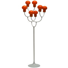 Stunning 1960s Standing Lamp in the Style of V. Panton