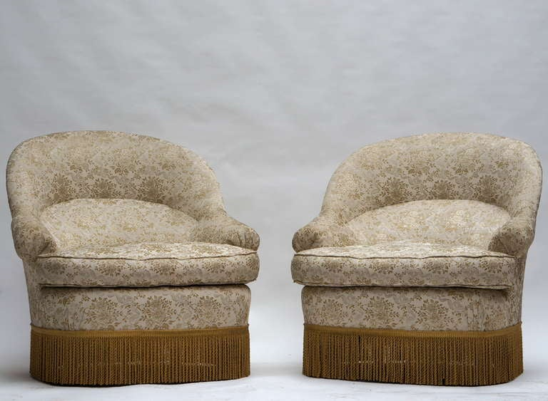 One of Two French Club or Lounge Chairs For Sale 1
