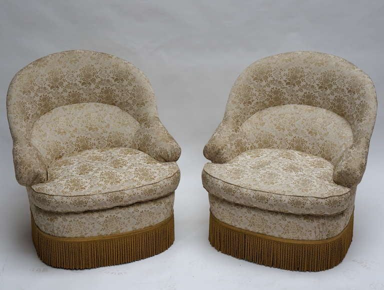 One of Two French Club or Lounge Chairs For Sale 4