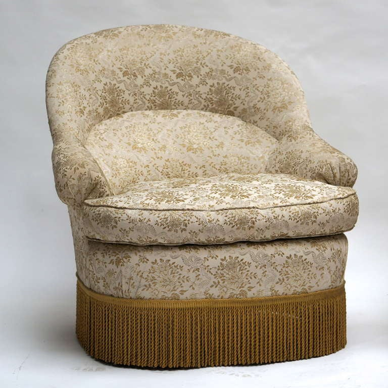 One of Two French Club or Lounge Chairs For Sale 2
