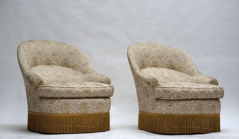 Mid-Century Modern One of Two French Club or Lounge Chairs For Sale