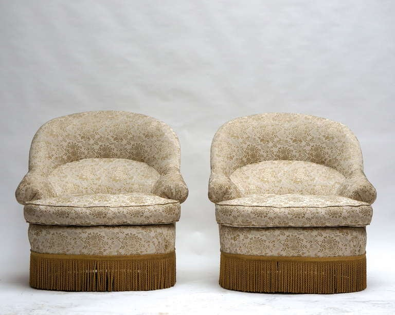 19th Century One of Two French Club or Lounge Chairs For Sale
